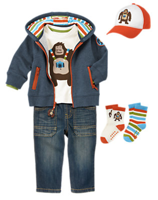 Toddler Boy's Apin' Around Outfit by Gymboree