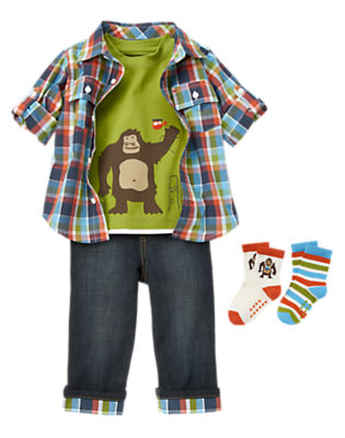 Toddler Boy's Monkey Games Outfit by Gymboree