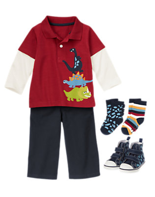 Preppy Prehistoric Outfit by Gymboree
