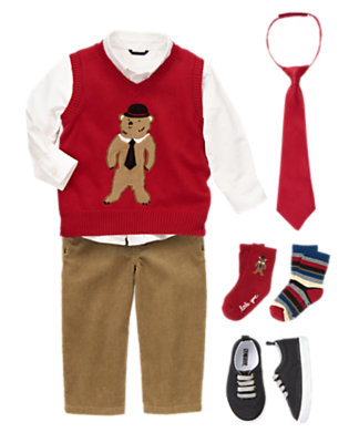Bear-y Handsome Outfit by Gymboree