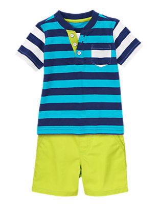 Toddler Boy's Stripes & Neon Outfit by Gymboree