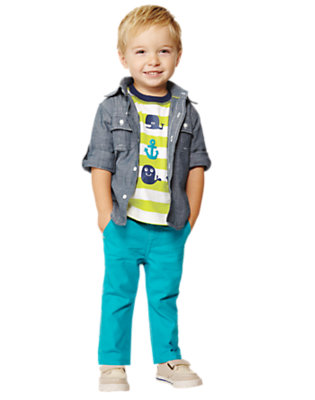 Toddler Boy's Captain Colorful Outfit by Gymboree