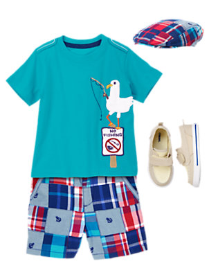 Toddler Boy's Seaside Lad Outfit by Gymboree
