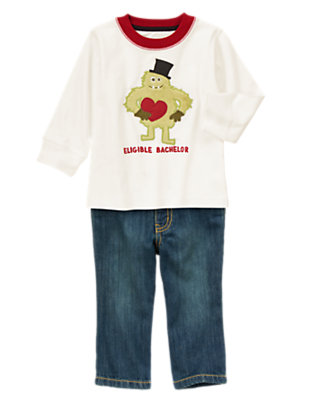 Toddler Boy's Wild About Valentine's Outfit by Gymboree