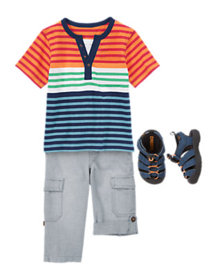 Toddler Boy's Sand and Stripes Outfit by Gymboree