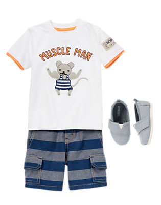 Toddler Boy's Muscle Mouse Outfit by Gymboree