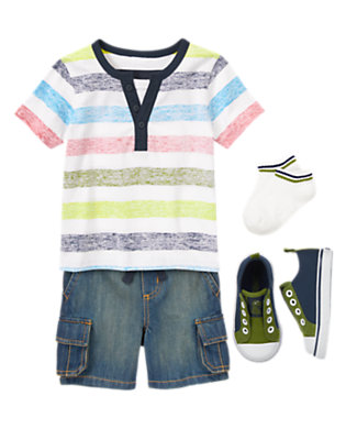 Toddler Boy's Wild Stripes Outfit by Gymboree