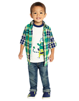 Toddler Boy's Plaid Party Outfit by Gymboree
