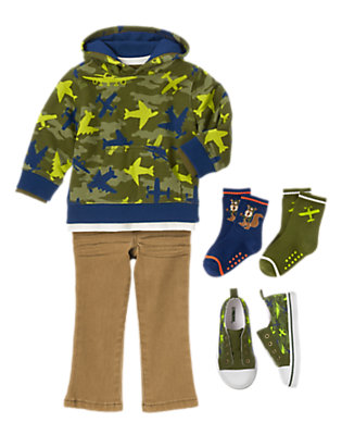 Toddler Boy's Flight Pattern Outfit by Gymboree