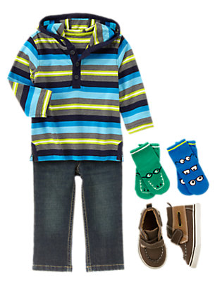 Toddler Boy's Stripe-ologist Outfit by Gymboree