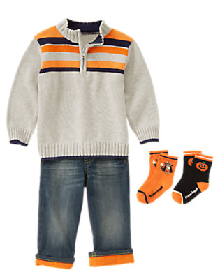 Toddler Boy's Spooky Stripes Outfit by Gymboree