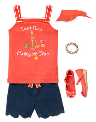Girl's Sporty & Sweet Outfit by Gymboree
