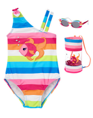 Girl's Rainbow Fish Outfit by Gymboree