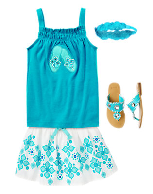 Aqua Summer Outfit by Gymboree