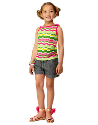 Girl's Shimmery Stripes Outfit by Gymboree