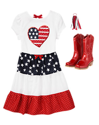 Girl's Fourth Of July Sweetie Outfit by Gymboree