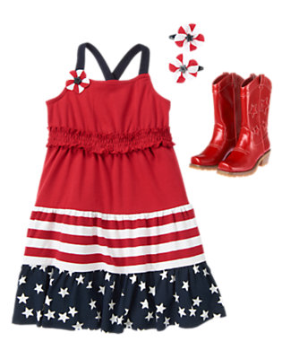 Girl's Star-Spangled Style Outfit by Gymboree