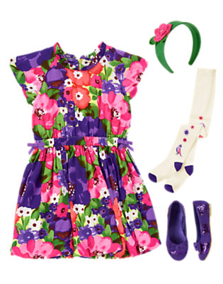 Floral Flounce Outfit by Gymboree