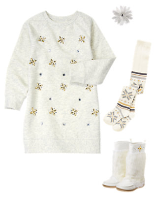 Girl's Winter Snowflake Outfit by Gymboree