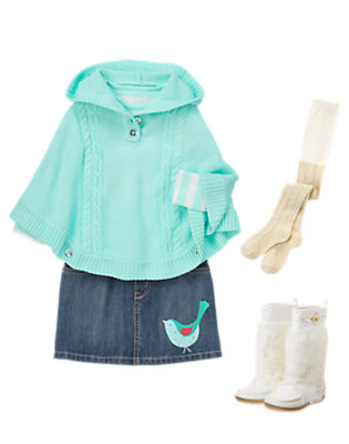 Girl's Perfect Poncho Outfit by Gymboree