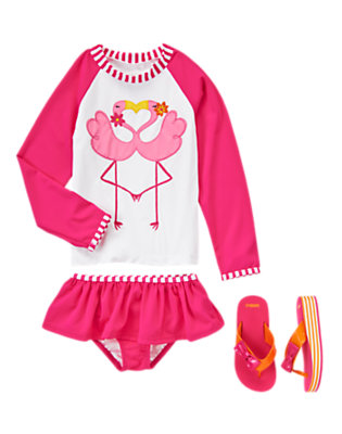 Girl's Flamingo Love Outfit by Gymboree