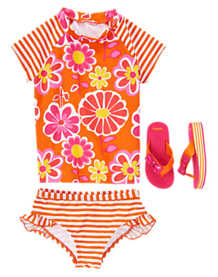 Girl's Beach Flower Outfit by Gymboree