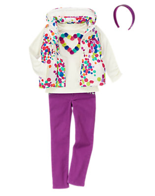 Girl's Color Spots Outfit by Gymboree