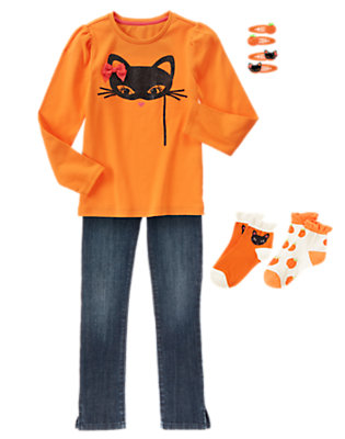 Girl's Kitty Masquerade Outfit by Gymboree