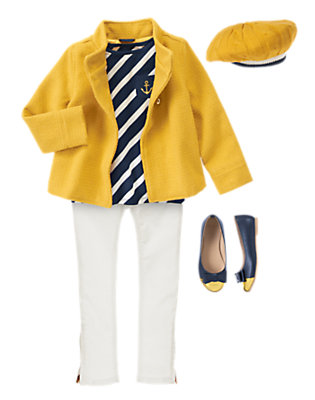 Girl's Mod-ical Nautical Outfit by Gymboree