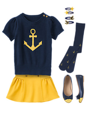 Girl's Full Sail Ahead Outfit by Gymboree
