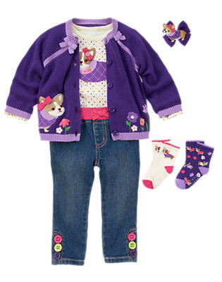 Toddler Girl's Corgi Cutie Outfit by Gymboree