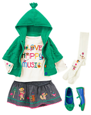 Toddler Girl's Love Happy Music Outfit by Gymboree