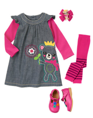 Toddler Girl's Chambray Twirl Outfit by Gymboree