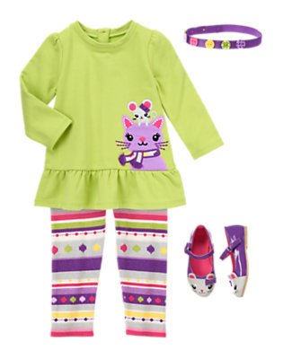 Toddler Girl's Cat & Mouse Outfit by Gymboree