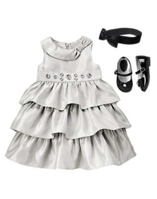 Toddler Girl's Silver Bells Outfit by Gymboree