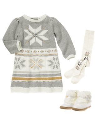Holiday Snowflakes Outfit by Gymboree