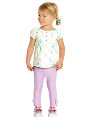 Toddler Girl's Petting Zoo Pastels Outfit by Gymboree