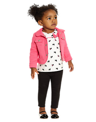 Toddler Girl's Central Park Pups Outfit by Gymboree