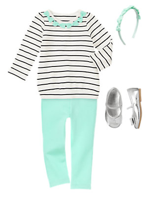 Toddler Girl's Bows Garden Outfit by Gymboree