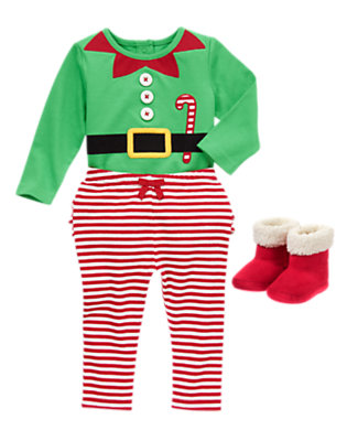 Baby's Candy Cane Sweet Outfit by Gymboree