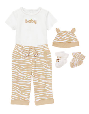 Baby's Striped and Sweet Outfit by Gymboree