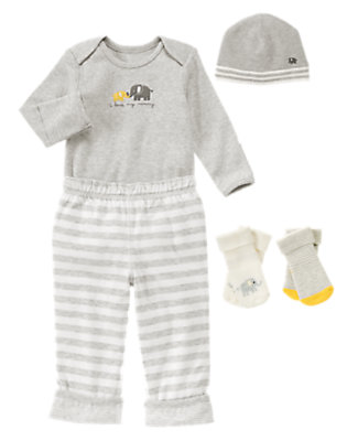 Baby's Good Day Grey Outfit by Gymboree