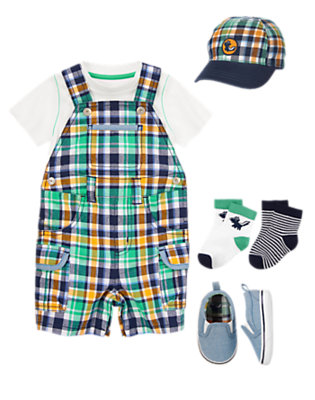 Baby's Plaid All-Over Outfit by Gymboree