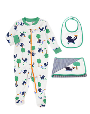 Baby's Sleepy Time Skunk Outfit by Gymboree