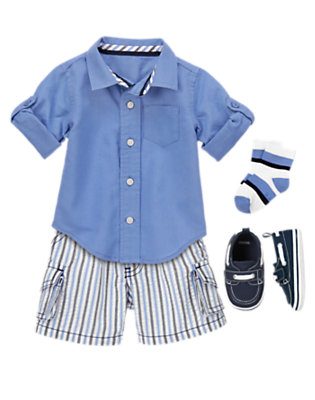 Baby's Little Boy Blue Outfit by Gymboree