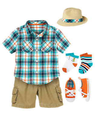 Baby's Spring Plaid Outfit by Gymboree
