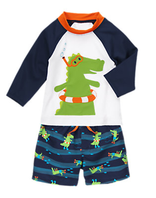 Baby's Alligator Splash Outfit by Gymboree