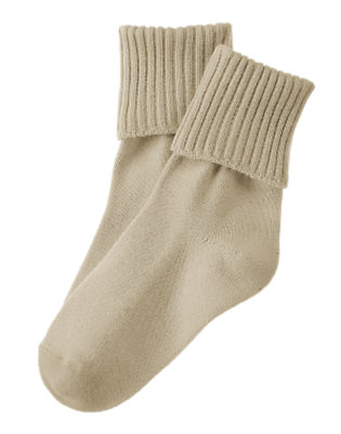 Boys Khaki Basic Sock by Gymboree