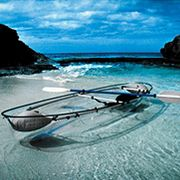 Transparent Canoe-Kayak at Hammacher Schlemmer :  boat gifts spree new york water fun