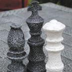 Stone Chess Board and Pieces